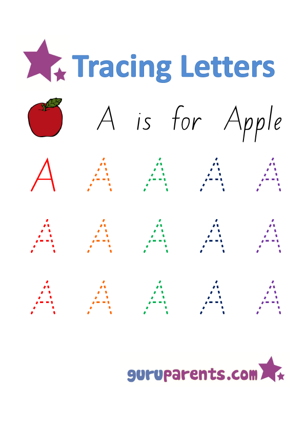 Alphabet Worksheet - Handwriting Capital Letter A