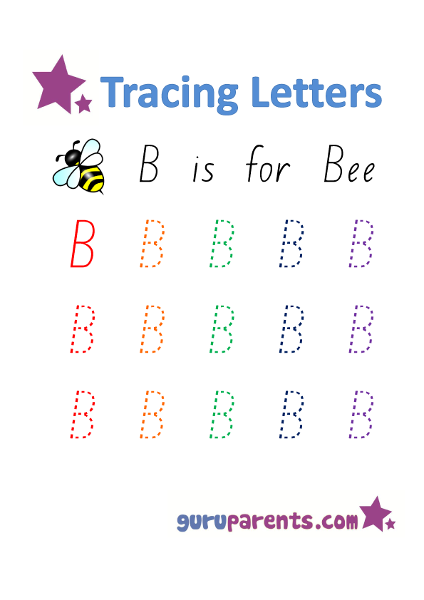 Alphabet Worksheets Handwriting Capital Letter-B