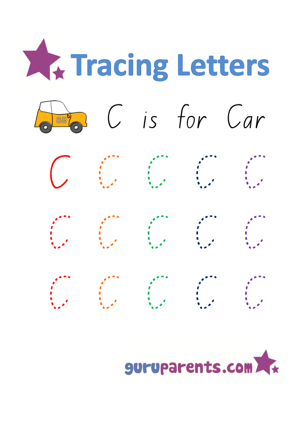 Printables Letter C Worksheets Preschool letter c worksheets guruparents alphabet worksheet handwriting capital c