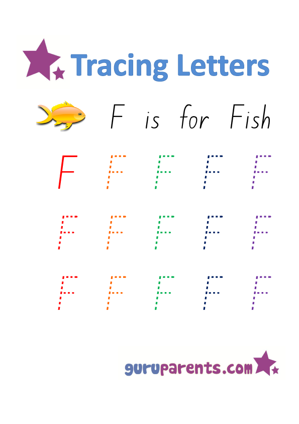 Alphabet Worksheets Handwriting - Capital Letter F