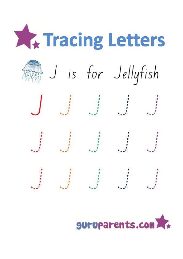 Alphabet Worksheets Handwriting - Capital Letter J