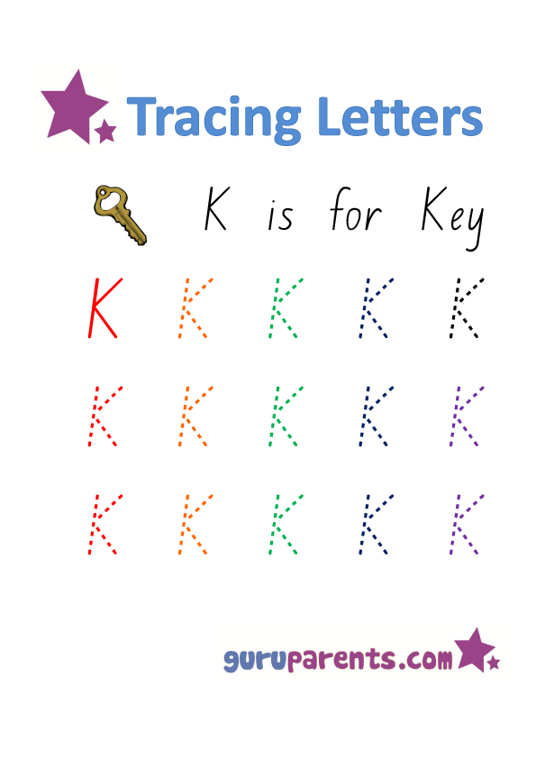 Alphabet Worksheet - Handwriting Uppercase Letter K