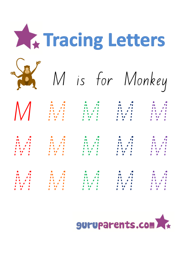 Alphabet Worksheet - Handwriting Uppercase Letter M