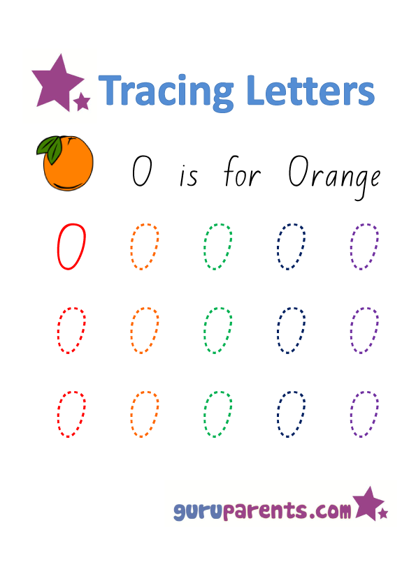 Alphabet Worksheets Handwriting - Capital Letter O