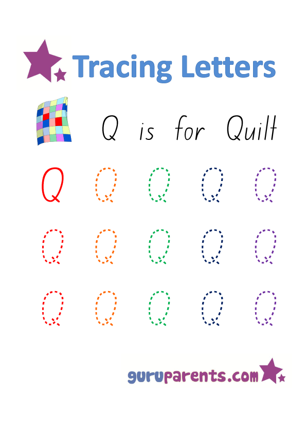 Alphabet Worksheets Handwriting - Capital Letter Q