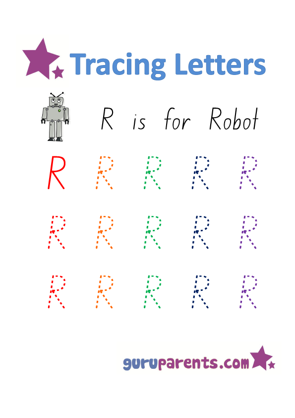 Alphabet Worksheet - Handwriting Uppercase Letter R