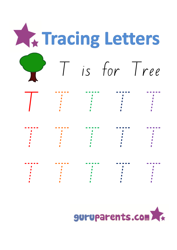 Alphabet Worksheet - Handwriting Capital Letter T