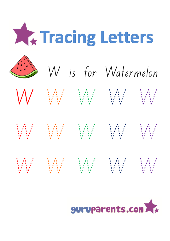 Printables Letter W Worksheets letter w worksheets guruparents alphabet worksheet handwriting capital w