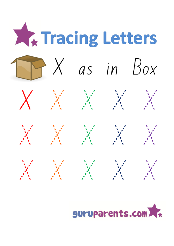 Alphabet Worksheet - Handwriting Capital Letter X