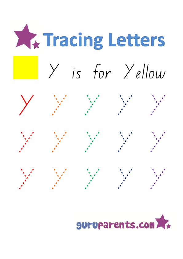 Alphabet Worksheet - Handwriting Capital Letter Y