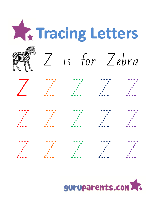 Alphabet Worksheet - Handwriting Uppercase Letter Z