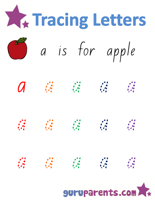 Alphabet Worksheet - Handwriting Lower-Case Letter a