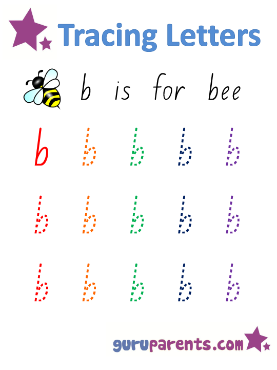 Alphabet Worksheet - Handwriting Lowercase Letter b