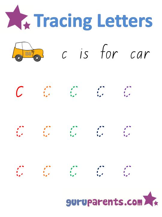 Number Names Worksheets worksheets for letter c : Letter C Worksheets | guruparents