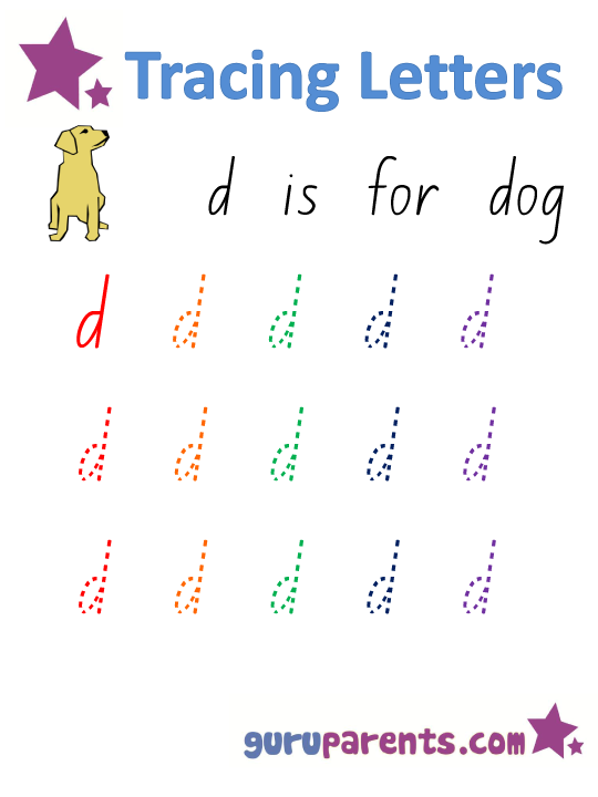 Alphabet Worksheet - Handwriting Lower-Case Letter d