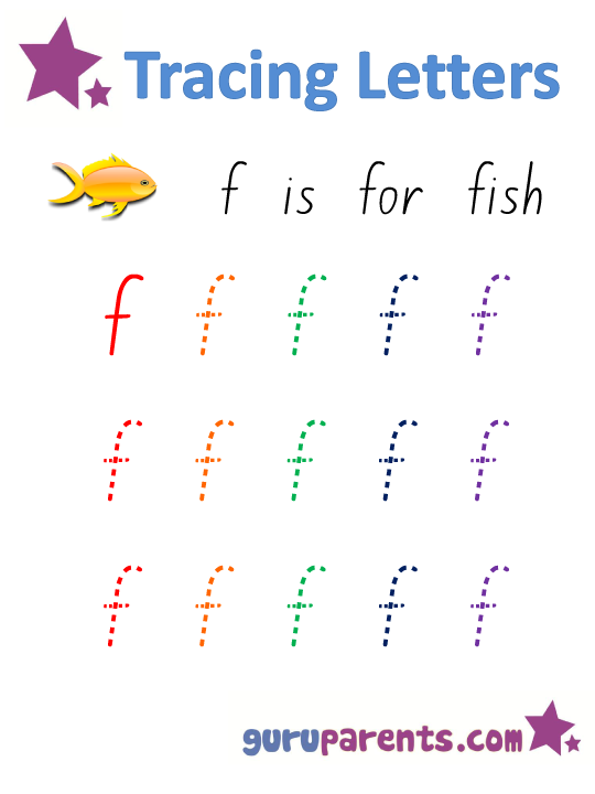 Alphabet Worksheet - Handwriting Lower-Case Letter f