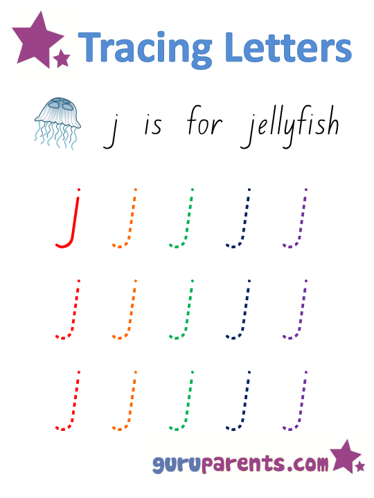 Alphabet Worksheet - Handwriting Lower-Case Letter j