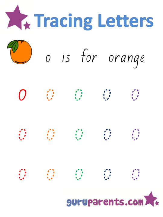 Alphabet Worksheet - Handwriting Lowercase Letter o