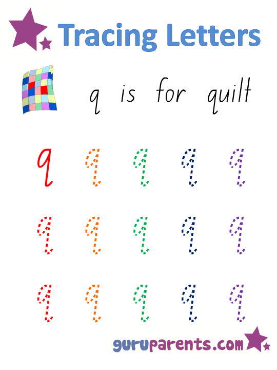 Alphabet Worksheet - Handwriting Lowercase Letter q