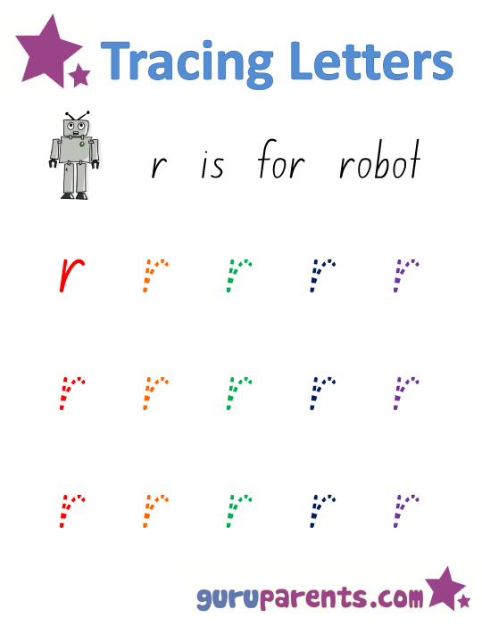 Alphabet Worksheet - Handwriting Lower-Case Letter r