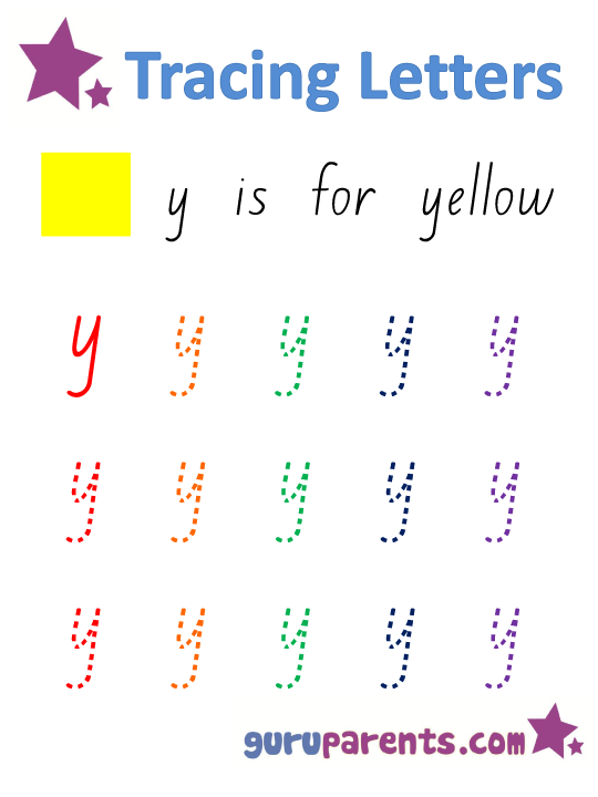 Alphabet Worksheet - Handwriting Lower-Case Letter y