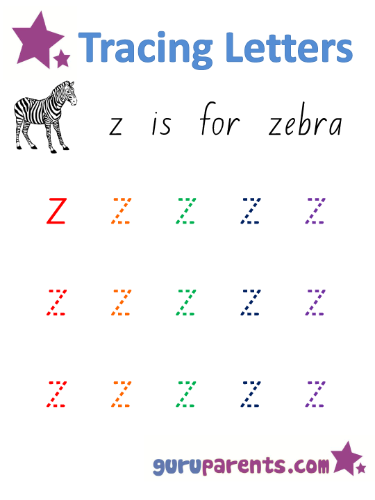 Alphabet Worksheet - Handwriting Lowercase Letter z