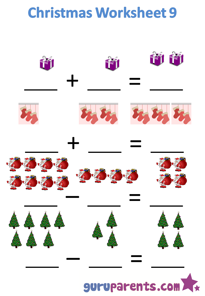 Christmas worksheet 9