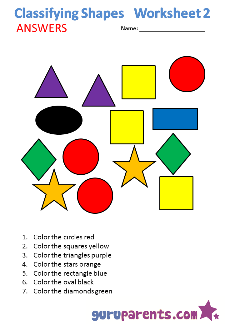 Classifying shapes 2 answers