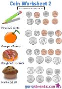 Coin worksheet 2