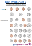 Coin worksheet 5