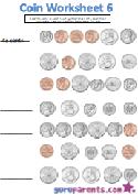 Coin worksheet 6