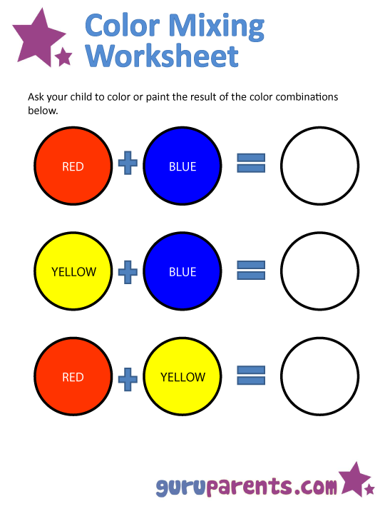 Worksheets Primary Colors Worksheet mixing colors guruparents color worksheet 1