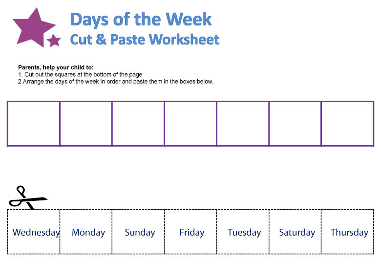 Days Of The Week Worksheets Guruparents