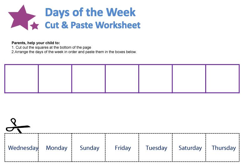 Number Names Worksheets days of the week printable : Days of the Week Worksheets | guruparents