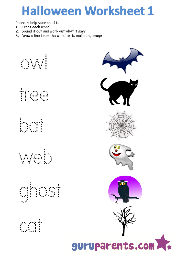 Halloween Worksheets – Printable Halloween Worksheets