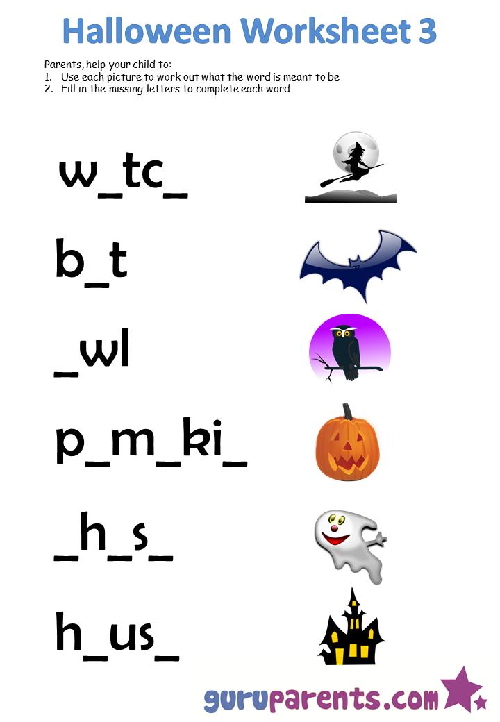 Halloween Worksheets | guruparents