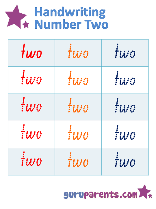 Number Worksheet - Handwriting Number Two