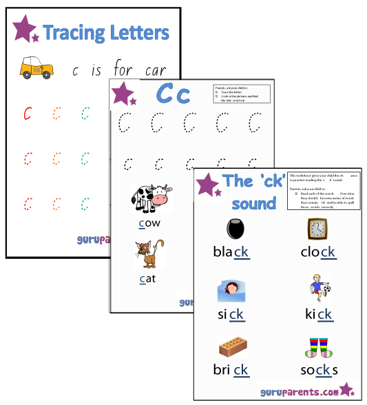 Letter C Worksheets