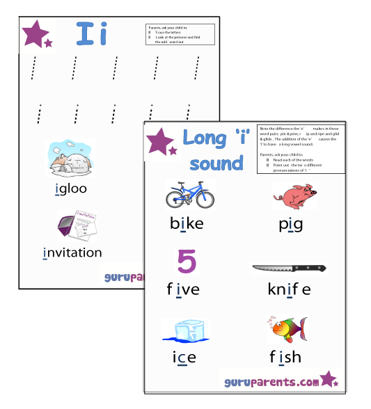 Letter I Worksheets