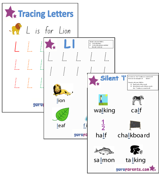 Letter L Worksheets