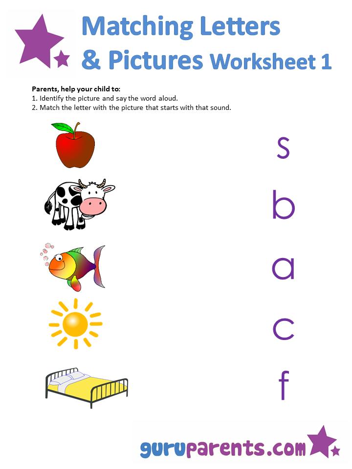 Matching Letters Worksheets | guruparents