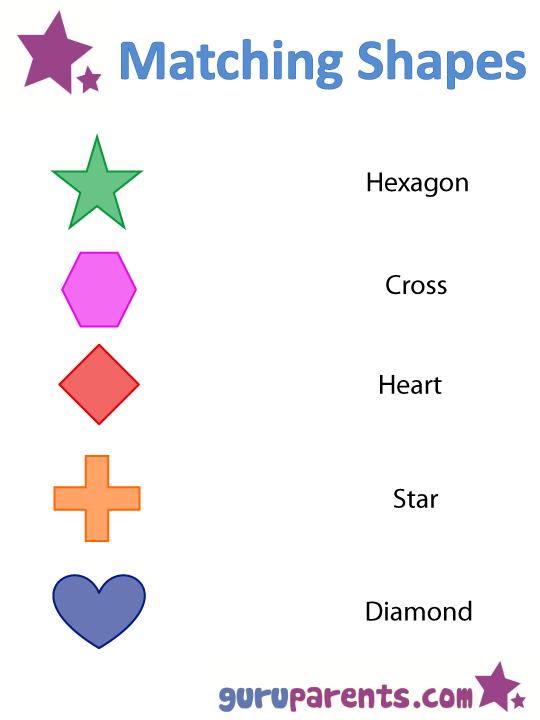 Matching shapes worksheet 2