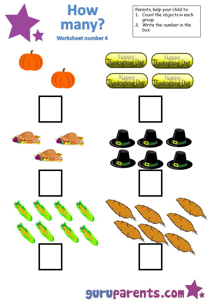 Printable Worksheets math 4 worksheets : Counting Worksheets | guruparents