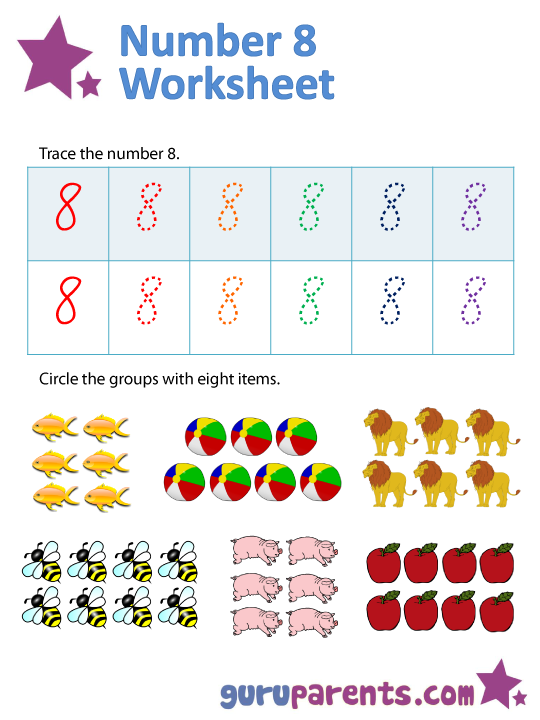 Number 8 worksheets – Number 8 Worksheets
