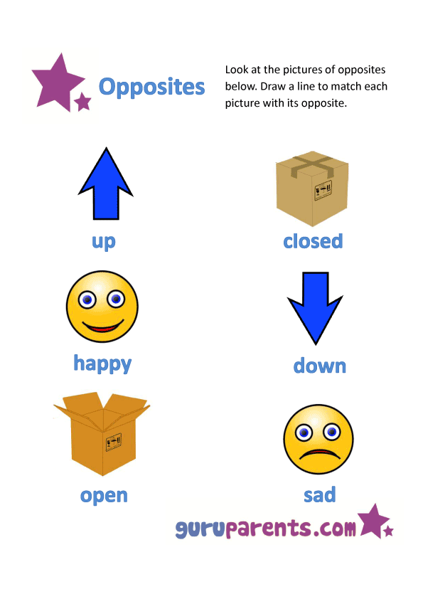 opposites worksheet C