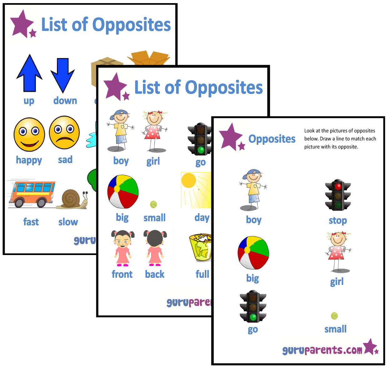 Worksheet Opposite Worksheets Preschool worksheets for preschool guruparents opposites worksheets