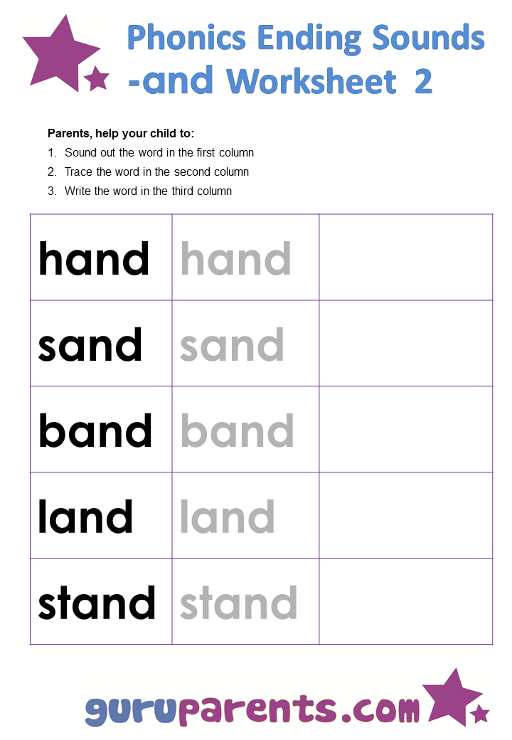 Phonics Worksheets Ending Sounds – Phonics Worksheet