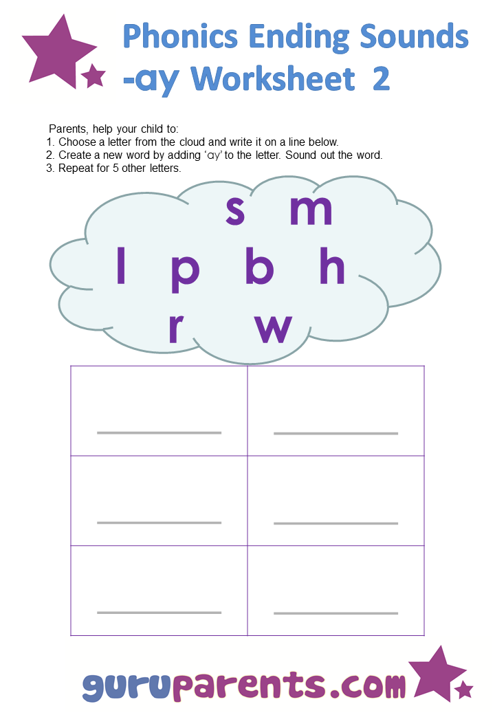 phonics worksheets ending sounds guruparents. Black Bedroom Furniture Sets. Home Design Ideas