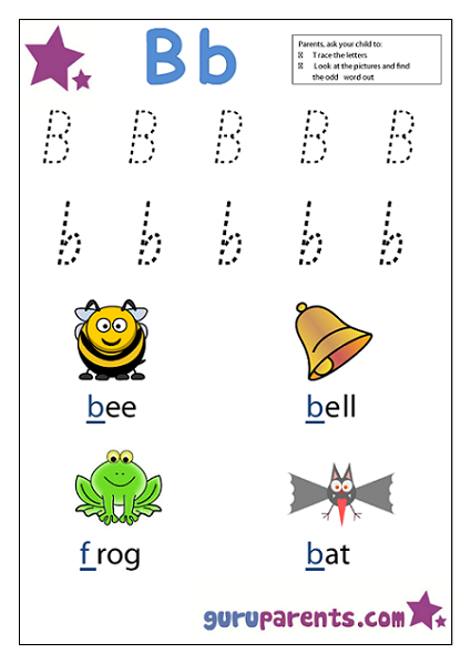 Preschool Letter Worksheet - Letter B