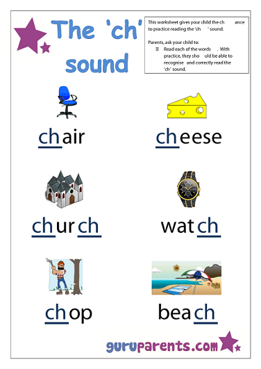 Word Beginning Sounds Worksheet - ch sound